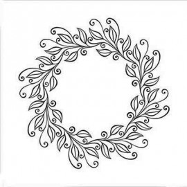 Embossing Folder - Leaves wreat