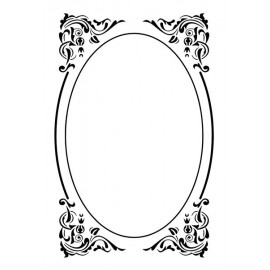 Embossing Folder - Oval Deco-frame