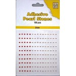 Adhesive Pearls, 2mm, 150 pcs,3 col. red