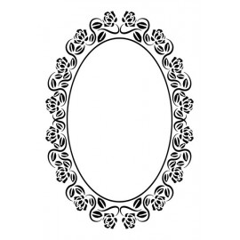 Embossing Folder Vintasia - Oval Frame Roses