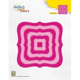 Nellie's Multi Frame Dies - Stitched Braced Squares