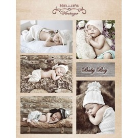 Nellie's Choice - A4 Cardtoppers Sheet - Nellie's Vintage - Baby Boy