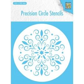 Precision Circle Stencils - Round Flower