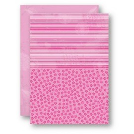 Nellie Snellen - A4 Background Sheets - Flowers, pink, nr.10
