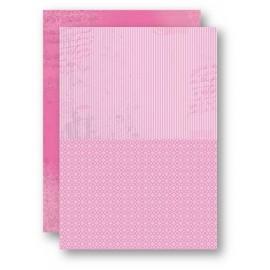 Nellie Snellen - A4 Background Sheets - Strips, pink, nr.09
