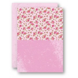 Nellie Snellen - A4 Background Sheets - Roses, pink, nr.08