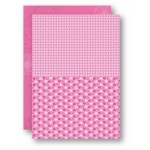 Nellie Snellen - A4 Background Sheets - Hearts, pink, nr.06