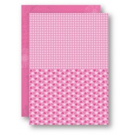 A4 Background Sheets - Hearts, pink, nr.06
