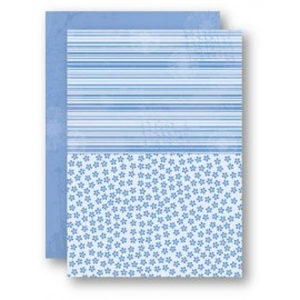 A4 Background Sheets - Flowers, blue, nr.15