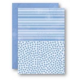 Nellie Snellen - A4 Background Sheets - Flowers, blue, nr.15