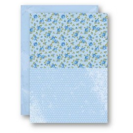 A4 Background Sheets - Roses, blue, nr.13