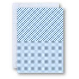 Nellie Snellen - A4 Background Sheets - Squares, blue, nr.12