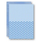Nellie Snellen - A4 Background Sheets - Hearts, blue, nr.11