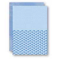 A4 Background Sheets - Hearts, blue, nr.11
