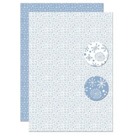 A4 Background Sheets - Snowflakes, nr.97