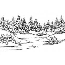 Embossing Folder - Winter scene