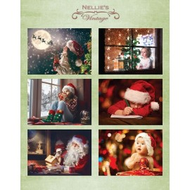Nellie's Choice - A4 Cardtoppers Sheet - Nellie's Vintage - Christmas Time-3