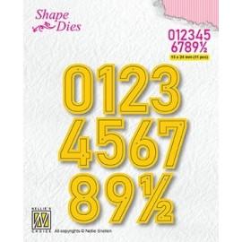 Shape Dies - Numbers large