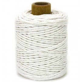 Cotton cord, white, 50mtr x2mm