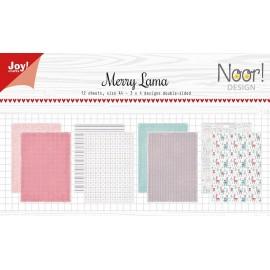 Joy! Crafts Papier Set - Merry Lama, A4