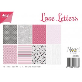 Joy! Crafts Papier Set - Love Letters, A4