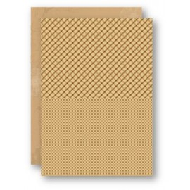 Nellie Snellen - A4 Background Sheets - Squares, brown
