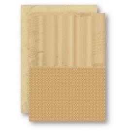 Nellie Snellen - A4 Background Sheets - Strips, brown