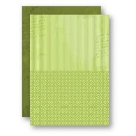 Nellie Snellen - A4 Background Sheets - Strips, green