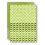 Nellie Snellen - A4 Background Sheets - Hearts, green