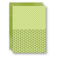 A4 Background Sheets - Hearts, green