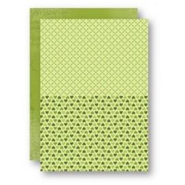 Nellie Snellen - A4 Background Sheets - Hearts, green