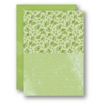 Nellie Snellen - A4 Background Sheets - Roses, green
