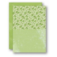 A4 Background Sheets - Roses, green