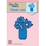 Shape Dies Blue - Flower vase
