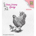 Clear Stamp Spring - Mother hen with chicks