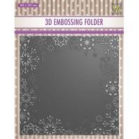 3D Embossing Folder - Snowflake frame