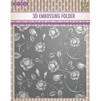 3D Embossing Folder - Roses