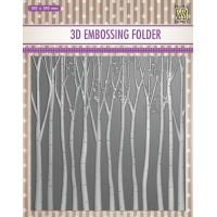 3D Embossing Folder - Trees