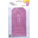Nellie's Multi Frame Dies - Stitched straight tag