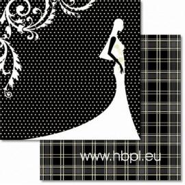 URSUS - Premium Glitter Scrapbook Paper Collection - Wedding #31, 30x30 cm