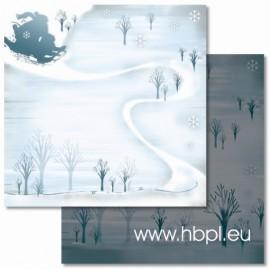 URSUS - Premium Glitter Scrapbook Paper Collection - Winter #65, 30x30 cm
