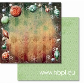 URSUS - Premium Glitter Scrapbook Paper Collection - Christmas #70, 30x30 cm