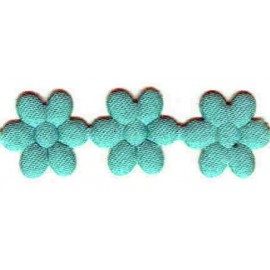 20MM MINT SATIN DAISY