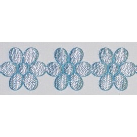 20MM PALE BLUE SATIN DAISY