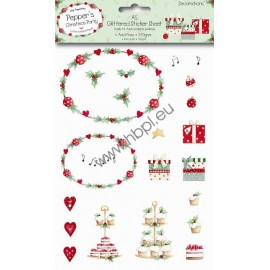 A5 Glittered Sticker Pack - Decorations Pepper