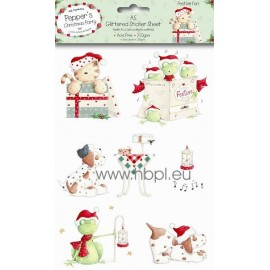 A5 Glittered Sticker Pack - Festive Fun