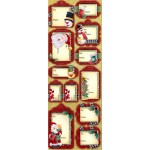 3D Christmas Chipboard Tags #1