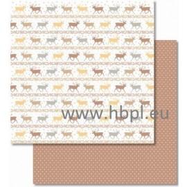 URSUS - Classic Christmas Collection - cream/brown, #02, 30x30 cm