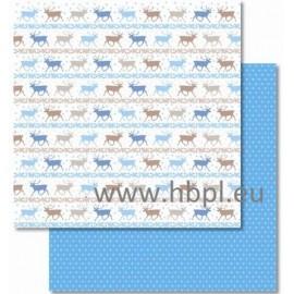 URSUS - Classic Christmas Collection - blue/brown, #02, 30x30 cm