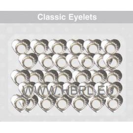 Eyelets - Hearts silver, 26 pcs, O4 mm